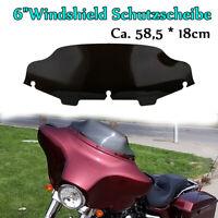 """6""""Windshield Schutzscheibe für Harley Street Glide Tri Glide Electra Glide 96-13"""