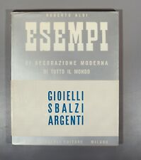 More details for aloi gioielli sbalzi argenti 1950s jewellery silver and enamels italian modern
