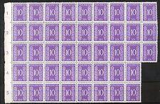 Indonesië Zonnebloem  22 B postfris veldeel van 43; 1 x gevouwen tussen zegels