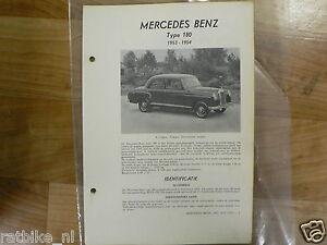 ME06-MERCEDES-BENZ TYPE 180 1953-1954 -TECHNICAL INFO