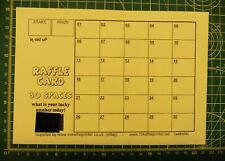 10 Cards - Lucky Number Raffle Cards A5 - Fundraising - 30 Spaces