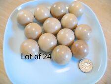 24 Hardwood Wooden Wood 1 1/4 inch Balls Lot Dolls Bears Toys Crafts 30 mm WB#4