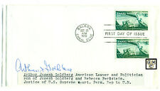 First Day Cover Signed by - Arthur Joseph Goldberg ,American Lawyer & Politician