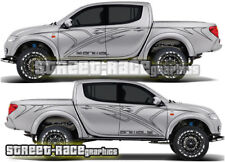 Mitsubishi L200 Animal side tribal sticker kit A, decals vinyl graphics