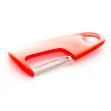Dexam Mini Red Serrated Peeler Tomato Soft Fruit Veg Stainless Steel Blade Peel