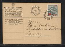 Switzerland  feldpost card  (mountain ) soldier stamp           KL0115