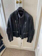 Men's Neil Barrett Leather Biker Jacket New
