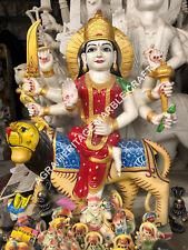 "24"" Durga Maa Idol Marble Statue Hand Painted Art Hinduism Gift Home Decor E1168"
