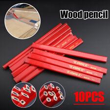 10Pcs 175mm Refills Carpenters Pencils Woodworking Marking Builders Wood Work