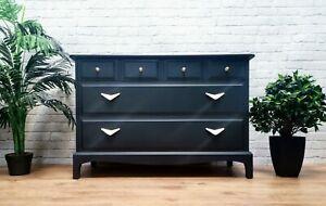 Posh Stag Minstrel Chest of Drawers Dresser Vintage Clothes Storage Black