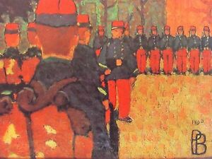 BONNARD - L'EXERCICE -  LITHOGRAPH - 1966 - FREE SHIP IN US  !!!