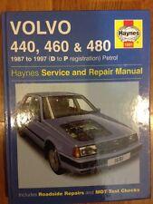 VOLVO 440,460 & 480 1987 - 1997 HAYNES SERVICE MANUAL HARDBACK D TO P PETROL