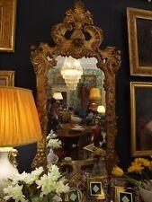 Specchiera antica in legno intagliato e dorato Italiana epoca 700