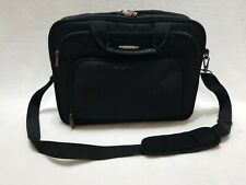 "Samsonite Classic 17"" Laptop/Briefcase- -Black-Adjustable shoulder strap-EUC!"