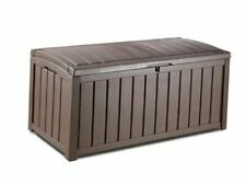 Keter Glenwood Plastic Deck Storage Container Box Outdoor Patio Furniture 101