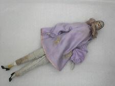 Rara bambola in ceramica PIERROT primi '900 d'epoca 1900 Vintage da restaurare