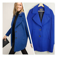 [ ESPRIT ] Womens Wool Blend Blue Coat Jacket  | Size AU 14 or US 10
