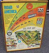 Road America Formula 5000 Sports Car Club Association SCCA Original Poster F1