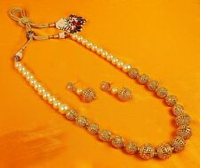 2378 Indian Bollywood Bridal Jewelry Gold Plated Fashion Necklace Mala New Set