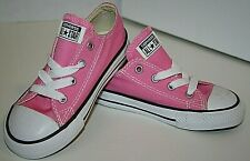 Girls CONVERSE ALL-STAR Chuck Taylor Lo Top Pink Sneakers Size 8 C #7J238 NEW