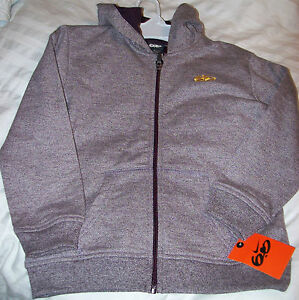 Nike 6.0 Boys Burgundy OR PURPLE Marled Full Zip Hoodie SIZE 4 MSRP$46 NEW W/TAG