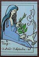 Carte postale Signe astrologique Vierge,Gueffier ,postcard