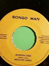 Bongo man Burning fire / Version Mellow larks