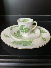 Shelley Lily of The Valley Demitasse Cup & Saucer Salad Plate