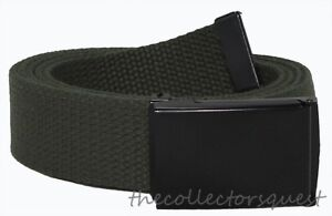 JAEGER CUSTOMS URBAN STRAPS Black Flip Top Buckle Canvas Military Web Golf Belt