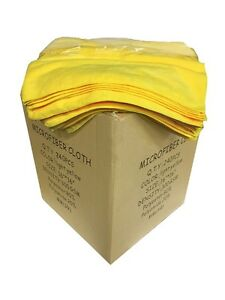 """240 Microfiber Yellow 16""""x16"""" Cleaning Detailing Cloths Towels Auto Car Rags"""