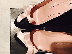 Giuseppe Zanotti Cute Pink Bow Wedges High Heels Shoes Pumps Sz40