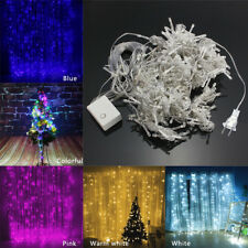 224LED Curtain Light Festival Decorative Christmas Tree Party String Lights