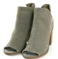 Steve Madden Tala Women's Ankle Booties Boots Size 10 Leather Olive Green