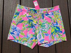 NWT Lilly Pulitzer $68 Callahan Knit Short Squeeze of the Day Size 0