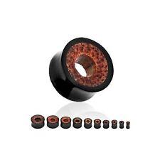 Gioielli tunnel, plug nero per il corpo 16mm