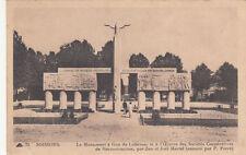 CPA GUERRE 14-18 WW1 SOISSONS 75 LL monument à Guy de Lubersac par J & J Martel