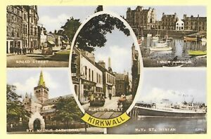 Vintage Printed PC, 1958,  MULTIVIEW OF KIRKWALL, ORKNEY .  310A