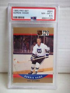 1990 Pro Set Gordie Howe PSA NM-MT+ 8.5 Card #660 NHL HOF Hartford Whalers POP 2