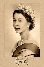QUEEN ELIZABETH II 4x6 Autograph Photo Young Quality Restore Cab Card CDV RP