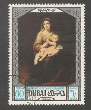 Dubai #97 (A14) VF USED CTO - 1969 60d Madonna and Child By Murillo - Painting