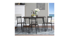 Large Dining Room Table New Unique Kitchen Set Metal Frame W/ Really Nice Chairs