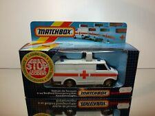 MATCHBOX K-143 BEDFORD EMERGENCY VAN AMBULANCE - WHITE - VERY GOOD IN BOX