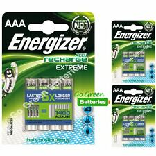12 x Energizer AAA EXTREME Rechargeable Batteries 800 mAh Pre Charged NiMH LR03