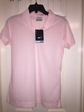 NWT Nike Golf Dri-fit Small Light Pink Womens Polo (embroidered)
