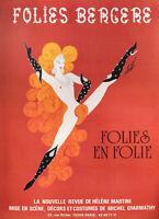 Plakat Original - Erté - Folies Bergere Paris IN Folie - Richtung 1975