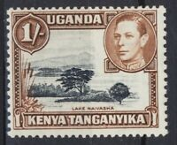 Kenya Uganda Tanganyika KGVI 1/-  Error Stamp - Black Colour Shift Left