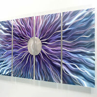 Purple & Silver Modern Metal Wall Art - Abstract Contemporary Decor by Jon Allen