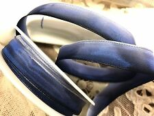 """Vintage 5/8"""" French Ribbon wire Ombre 1yd Royal Light To Dark"""