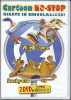 2 Dvd Box Cofanetto CARTOON NO STOP - SCOOBY-DOO + WILLY IL COYOTE nuovo