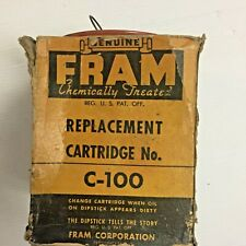 Fram Replacement oil filter Cartridge NO. C-100